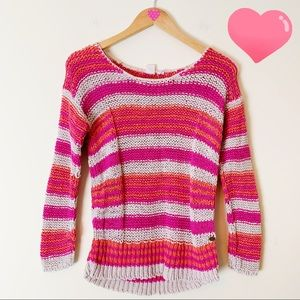 Roxy Stripe knit Sweater Size S C259